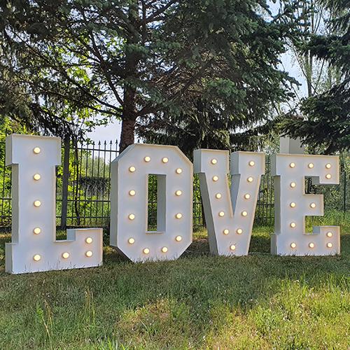 XXL LOVE Buchstaben